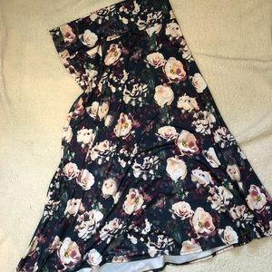 Lularoe Maxi Skirt Roses